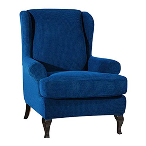 DQWGSS Wingback Armchair Chair Schonbezüge Spandex Jacquard Sofabezüge Stretch Wing Chair Schonbezug 2-teiliges Spandex-Material (Farbe: Farbe 12)