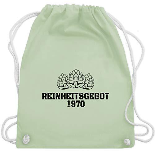 Shirtracer Geburtstag - Reinheitsgebot 1970 - schwarz - Unisize - Pastell Grün - Bier - WM110 - Turnbeutel und Stoffbeutel aus Baumwolle