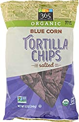 365 Everyday Value, Organic Blue Corn Tortilla Chips, Salted, 12 oz