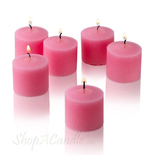 10 Hour Pink Rose Garden Scented Votive Candles Set of 12 Made In USA