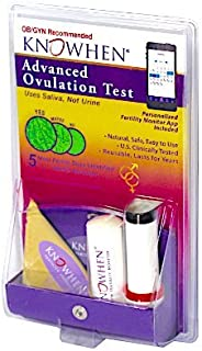 KNOWHEN Advanced Saliva Ovulation Predictor Test Kit with Fertility Monitor App, Reusable Daily with 98.9% Accuracy