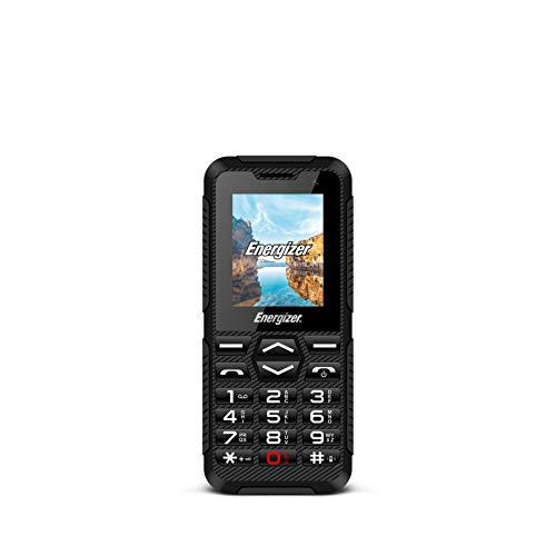 Energizer MOBILES AND ACCESSORIES HARDCASE H10 - Mobile débloqué 2G - World - Prises EU/UK/US (Écran : 1, 80 pouces - 32 Mo - Double Sim) Noir