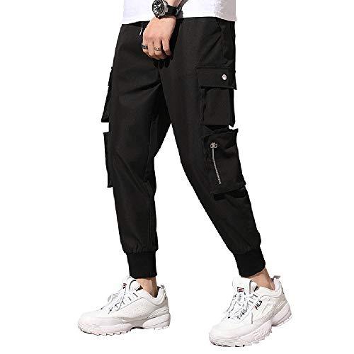 NOBRAND - Pantalones informales para hombre Negro Negro ( 7XL