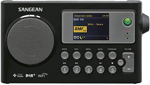 Sangean WFR-27C tragbares Internetradio (DAB+/UKW-Tuner, WLAN, UPnP/DMR Music Streaming, Netz-/Batteriebetrieb, Weckfunktion, Dual-Alarm) schwarz