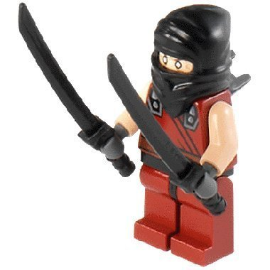 LEGO®TMNT - minifigura Ninja Oscura con 2 katanas (Espada)