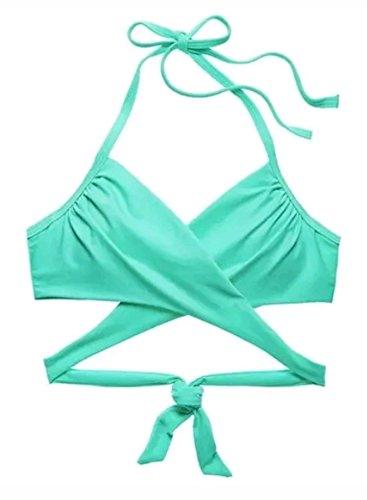 Victoria's Secret Monokini, Einteiler, Velours, Pink - Grün - 80B