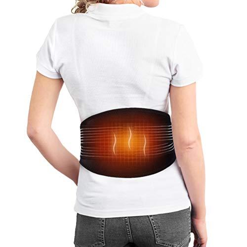 Rückenwärmer, Elektrischer Wärmegürtel Rücken mit Kompressionsband, Heizkissen Gürtel für unteren Rücken, Bauch, Ischias Schmerzlinderung