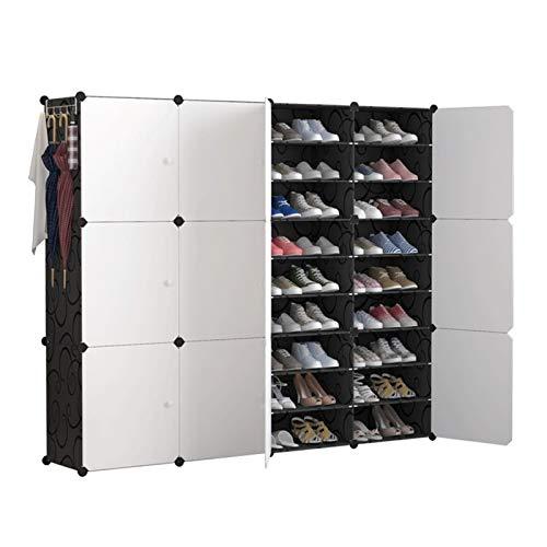 Bota de almacenamiento de zapatos para zapatos SISTEMA DE ALMACENAMIENTO CON PUERTAS, ZAPATOS, ACCESORIOS CAJA DE ZAPATIVO DE ALMACENAMIENTO DE ALMACENAMIENTO DE ZAPATO DE ZAPACIDAD para el armario or