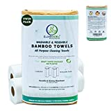 Bamboora Pack of 2 Reusable Bamboo Paper Towels - Lint free, Zero...