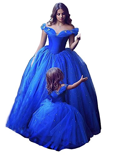 Aiyi Women's Off Shoulder Cinderella Butterfly Long Evening Gown Prom Dress 8 Royal Blue
