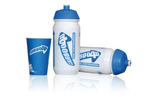 Carboo4U Sportflasche - Radflasche - Radfahren Flasche, Triathlon weiß, 0,75l