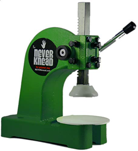Easy Kneading of Polymer Clay - Green NEVERknead Tool is The Machine for All Polymer Clay Including Sculpey Fimo Cernit Pardo Art Clay & More