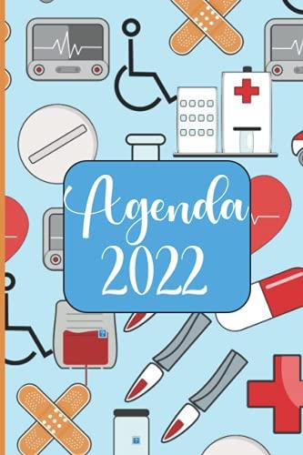 Agenda 2022: Enfermera Medicina Agenda 2022 . Regalo Ideal Para Enfermeras . Tema Enfermera Medicina Agenda Mensual y Semanal .