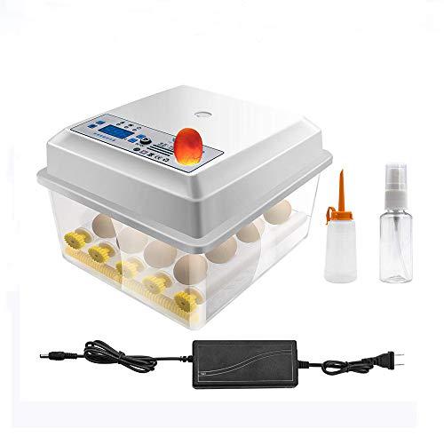 JoaSinc Inkubator Vollautomatisch Brutmaschine 16 Eier, Intelligentes digitales Brutmaschine Brutkasten mit LED Temperaturanzeige und Feuchtigkeitsregulierung, für Hühnerenten, Vögel, Gänse