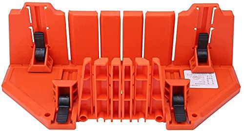 Fisecnoo Caja de plástico Pabring Saw Wood Cutting Hardware Hardware Herramienta de carpintería Bloquear sujeción con Abrazadera y 22.5 ° 45 ° 90 ° Tipos de Ranuras de ángulo para Carpintero