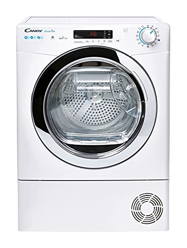 Candy Smart Pro CSOEH9A2DCE Free Standing Heat Pump Tumble Dryer, Sensory Dry, A++, 9 kg Load, White