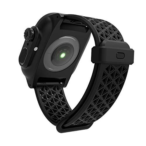Catalyst Sport Band per Apple Watch Series SE, Series 6, Series 5/4 44m-, Serie 3,2,1 42mm, Ipoallergenico,Sgancio rapido, Sport Band Designed for Apple Watch, Without Connectors - Nero