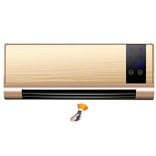 YDHBD Eléctricos Calentador De Ventilador De Baño Montado En La Pared con Mando A Distancia, Calefactor Cerámico De Pared Pantalla LED, Temporizador De 7.5H, para Hogar, Oficina, 2500W