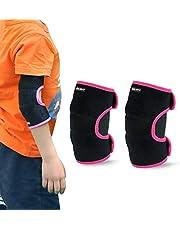 ONT Ellenboogbeschermer ondersteuning instelbaar zachte kinderen elleboogbandage protector met SBR Pad Guard Wraps voor fietsen dansen volleybal kruipen