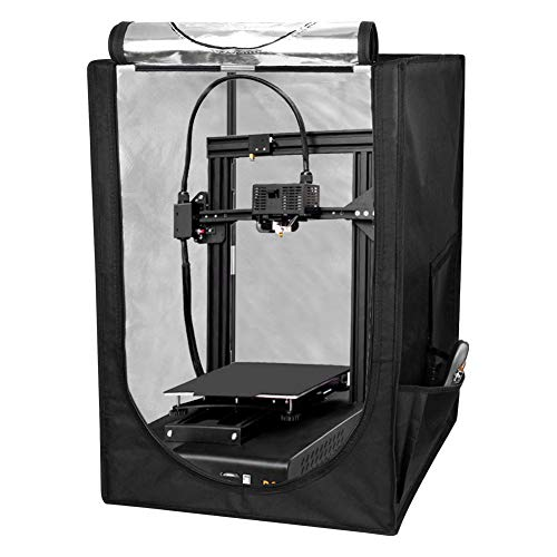 KKTECT 3D Printer Tent-Fireproof & Dustproof Constant Temperature Protective Cover Room Warm Enclosure Heating Box for Ender 3/Ender 3 Pro/Ender 5