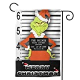 "Zebraprime Double Sided How The G-rinch S-tole Christmas Seasonal Outdoor D¨¦cor Decorative Large Flag for Holiday 28""x40"""