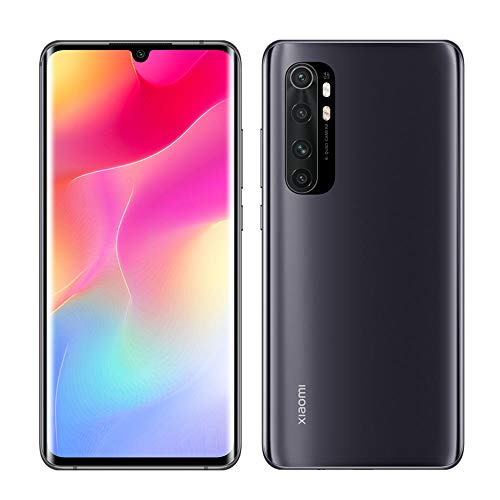Xiaomi Mi Note 10 Lite Smartphone 6GB 128GB Quad Caméra 6.47″ 3D Curved AMOLED Display 5260 mAh Noir [Version Globale], Midnight Black