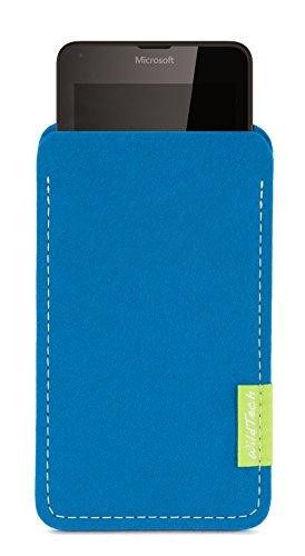 WildTech Sleeve für Microsoft Lumia 640 XL Dual SIM Hülle Tasche - 17 Farben (made in Germany) - Petrol