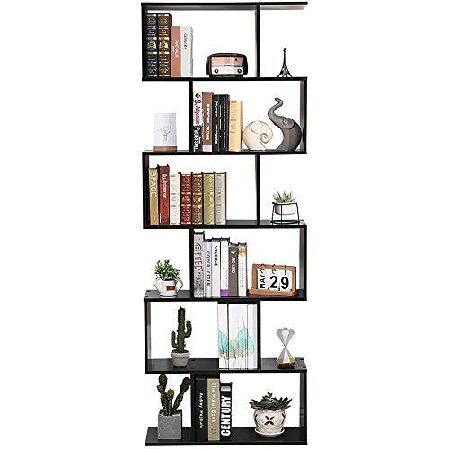 Etnicart boekenkast, modern design voor kantoor en thuis van donker Wengé hout - 70 x 23,5 x 190 cm. Zelfdragende lading, met scheidingswanden, kwaliteitsproduct.