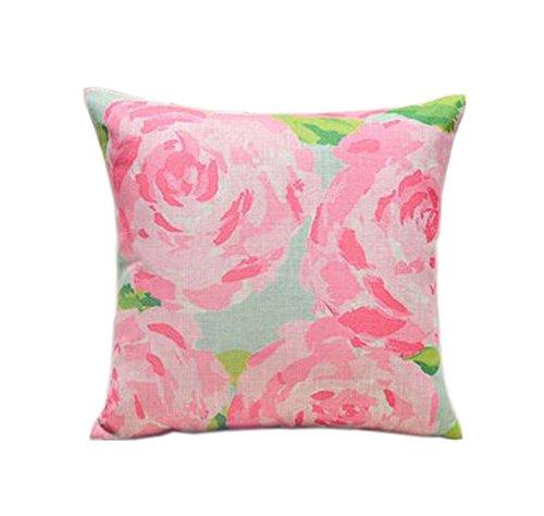 belle motif pivoine rose ameublement de maison oreiller / coussin