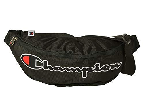 Champion Unisex Gürteltasche - Belt Bag, Taillenbeutel, Logo, 13x40x10cm (HxBxT) (Schwarz...