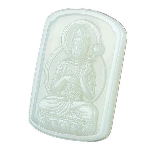 Aligeya Natürliche Hetian Jade Anhänger Männer und Frauen Jade Anhänger Halskette, Patron Saint Zodiac Buddha