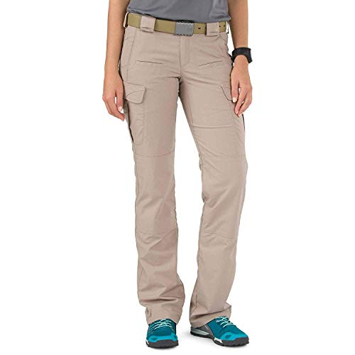 5.11 Tactical Women's Stryke Covert Cargo Pants, Stretchable Fabric, Gusseted Construction, Style 64466 Khaki