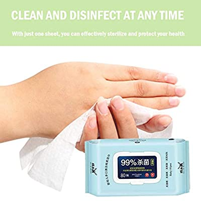 99.9% Antibacterial Wet Wipe Sale Baby Wipes Wet Tissue Disinfecting Wipes Cleaning Wipes sanitizing Wipes Tissue Clean Hand Health Care Non-Alcoholic No Nasty Chemicals 80 Wipes/Pack (Pack of 1) from Wet Wipes Sale