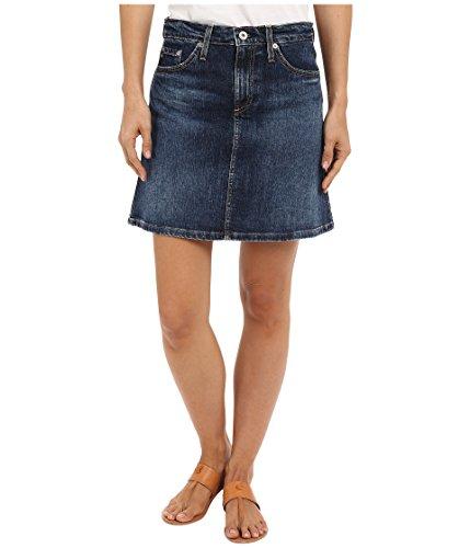AG Adriano Goldschmied Women's The Ali A-Line Mini Denim Skirt in Indigo Indigo Skirt 28