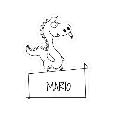 JOllipets baby kindersticker - Mario - variant: Dieren dierentuin - 10cm - Design: draak