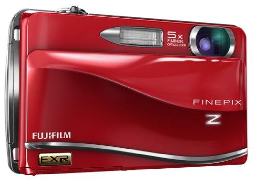 Fujifilm FINEPIX Z800EXR Digitalkamera (12 Megapixel, 5-fach opt. Zoom, 8,9 cm (3,5 Zoll) Display, Bildstabilisator) rot