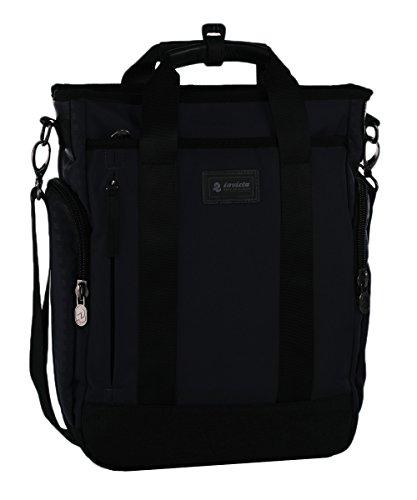 Zaino-Borsa Invicta Bag-Pack Work Memory, 2in1, Nero, 13 Lt, Porta Laptop 13'' e tablet, Tempo libero & Office