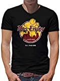TShirt-People Mos Eisley Cantina V-Kragen T-Shirt Herren Star Band Wars Planet XL Schwarz