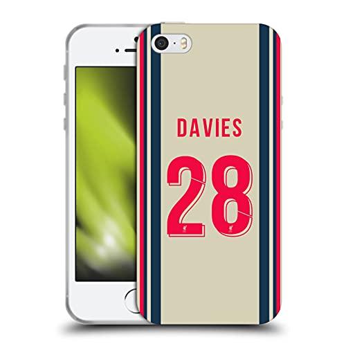 Head Case Designs Licenciado Oficialmente Liverpool Football Club Ben Davies 2021/22 Jugadores Fuera Kit Grupo 2 Carcasa de Gel de Silicona Compatible con Apple iPhone 5 / iPhone 5s / iPhone SE 2016