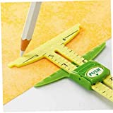 Amoyer Nähen Werkzeug 5-in-1 Multifunktions Slide-messgerät Patchwork-Werkzeug Cutter Lineal Professionelle Nähzubehör