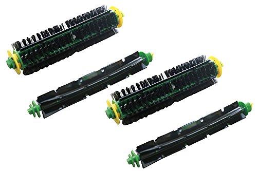 Green Label Empaque de 2 Kit de Cepillos para los Modelos iRobot Roomba Serie 500 con Cabezal de Limpieza Rojo o Verde