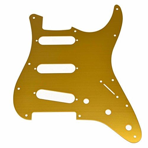 Dopro 11 agujero ST Strat SSS Metal Guitarras Golpeador Aluminio Scrach Plate para USA/Mexicano Fender Stratocaster Oro