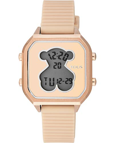 Reloj TOUS Mujer D-Bear Teen Square IPRG Silicona Nude - Ref: 100350395