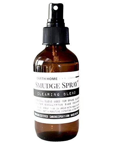 Earth Home Smudge Spray - Space Cleanser and Purifier, All-Natural Formulation - 4 Ounces
