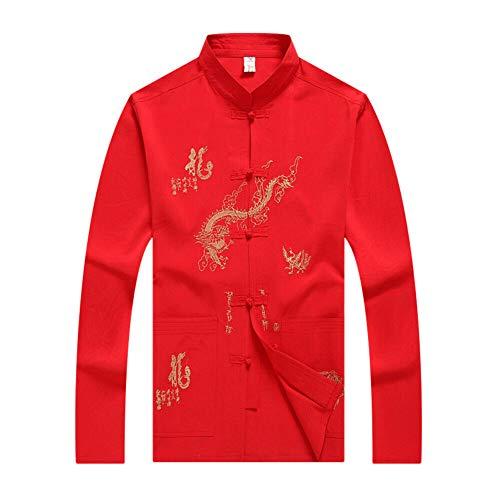 Xinvivion Tai Chi Uniforme Disfraz para Hombres - Chino Tradicional Artes Marciales Wing Chun Shaolin Kung Fu Chaqueta Ropa de Entrenamiento