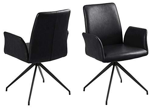 Esszimmerstuhl Nadine mit Drehfuß schwarz Esszimmer Stuhl Küchenstuhl Sessel