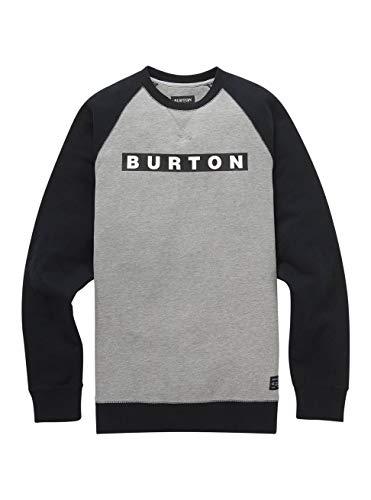 Burton Herren Vault Crew Sweatshirt, Gray Heather, L