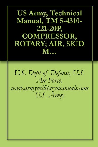 US Army, Technical Manual, TM 5-4310-221-20P, COMPRESSOR, ROTARY; AIR, SKID MTD, GASOLINE DRIVEN; 125 CFM, 10, (INGERSOLL-RAND MODEL GER-125), SERIAL NOS. ... military manauals, special forces