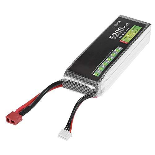Zouminyy 【】 11.1V 3S 5200mAh 30C Batería Recargable de LiPo con Conector en T para Modelo RC