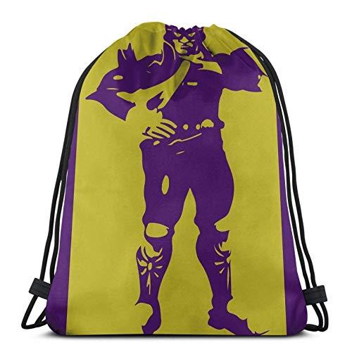 WH-CLA Bolsas con Cordón Captain Falcon - Super Smash Bros.Ultimate Print Hombre Anime Mochilas con Cordón...